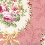Lecien - Rococo Sweet 2014 - Floral Cameo in Dusk Rose