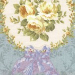 Lecien - Rococo Sweet 2014 - Floral Cameo in Cornflower Blue