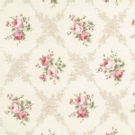 Lecien - Rococo Sweet 2014 - Floral Checkers in Ivory