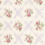 Lecien - Rococo Sweet 2014 - Floral Checkers in Lavender