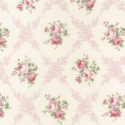 Lecien - Rococo Sweet 2014 - Floral Checkers in Dusk Rose