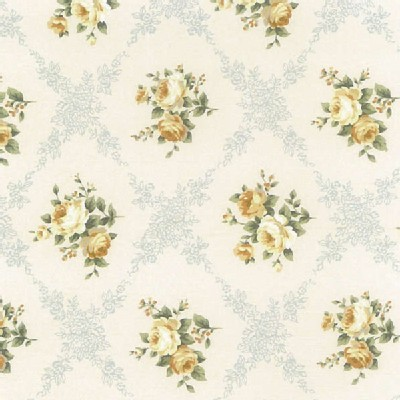 Lecien - Rococo Sweet 2014 - Floral Checkers in Cornflower Blue