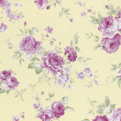 Lecien - Rococo Sweet 2015 - Main Floral Bouquet in Soft Yellow
