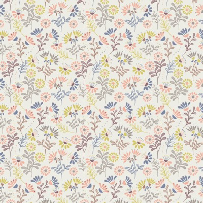 Lewis And Irene - A Little Bird Told Me - Cottage Flowers in Ivory