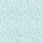 Lewis And Irene - Coastal - Waves in Light Aqua