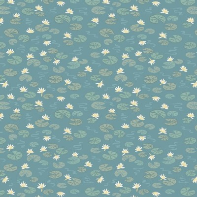 Lewis And Irene - Down By the River - Lily Pads in Teal