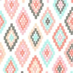 Michael Miller Fabrics - Arrow Flight - Cornered in Blush