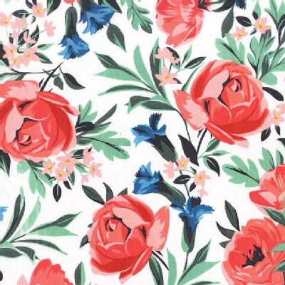Michael Miller Fabrics - Bed of Roses - Roses in Coral