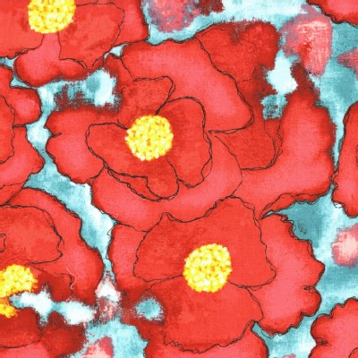 Michael Miller Fabrics - Cosmos - Worn Poppy in Red