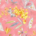 Michael Miller Fabrics - Flight Patterns - Mimosa in Pink
