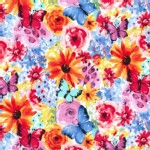 Michael Miller Fabrics - Florals - Garden Party - Big Bang Blooms in Multi