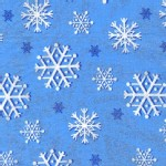 Michael Miller Fabrics - Glitter and Sparkles - Snowflakes Glitter in Blue