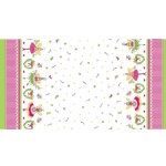 Michael Miller Fabrics - Holiday - Hollywood Pixie Border in Cheery