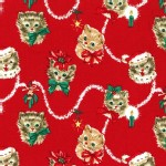 Michael Miller Fabrics - Holiday - Kitty Garland in Red