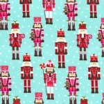 Michael Miller Fabrics - Holiday - Nutcrackers in Aqua