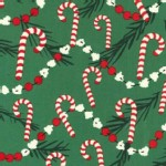 Michael Miller Fabrics - Holiday - Corny Cane in Green