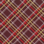 Michael Miller Fabrics - Holiday - Bow Tie Plaid - Metallic in Burgandy