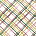 Michael Miller Fabrics - Holiday - Bow Tie Plaid - Metallic in White