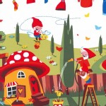 Michael Miller Fabrics - Kids - Gnomeville in Red