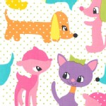 Michael Miller Fabrics - Kids - Plush puppy in Girl