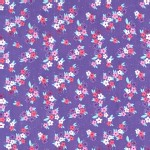 Michael Miller Fabrics - Kids - Princess Charming - Perky Petals in Grape