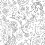 Michael Miller Fabrics - Kids - Color Me - Princess Paisley in White