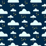 Michael Miller Fabrics - Kids - Believe Swinging on a Star Metallic in Celestial