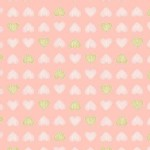 Michael Miller Fabrics - Kids - Believe Heart of Gold Metallic in Blossom