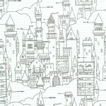 Michael Miller Fabrics - Magic - Castle Plans in White