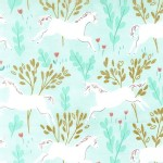 Michael Miller Fabrics - Magic - Unicorn Forest in Aqua