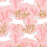 Michael Miller Fabrics - Magic - Unicorn Forest in Blossom