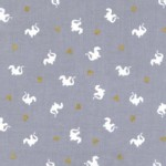 Michael Miller Fabrics - Magic - Baby Dragon in Grey