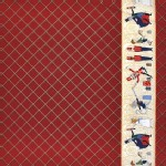 Michael Miller Fabrics - Nutcracker - Act I Border in Burgundy