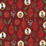Michael Miller Fabrics - Nutcracker - Ornaments in Burgundy