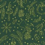 Michael Miller Fabrics - Nutcracker - Mini Overture in Hunter Green