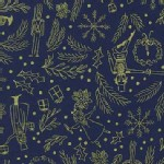 Michael Miller Fabrics - Nutcracker - Mini Overture in Navy