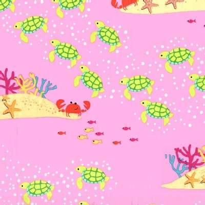 Michael Miller Fabrics - Sea Buddies - Meeting At the Reef in Pink
