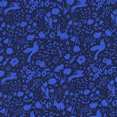 Michael Miller Fabrics - Sommer - Garden Shadow in Blueberry