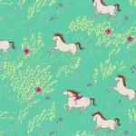 Michael Miller Fabrics - Wee Wander - Summer Ride in Seafoam
