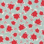 Moda Fabrics - Return Winters Lane - Floral in Mint