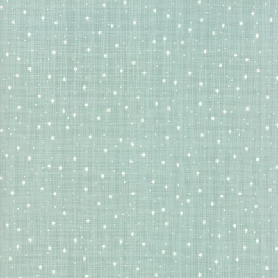 Moda Fabrics - Return Winters Lane - Snow Dots in Mint