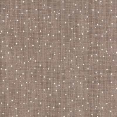 Moda Fabrics - Return Winters Lane - Snow Dots in Taupe