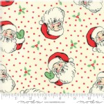 Moda Fabrics - Swell Christmas - Santa in Cream
