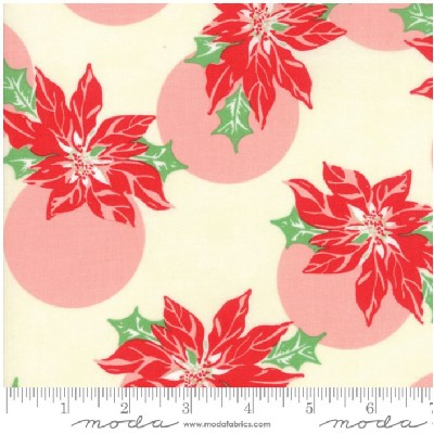 Moda Fabrics - Swell Christmas - poinsettia in Cream