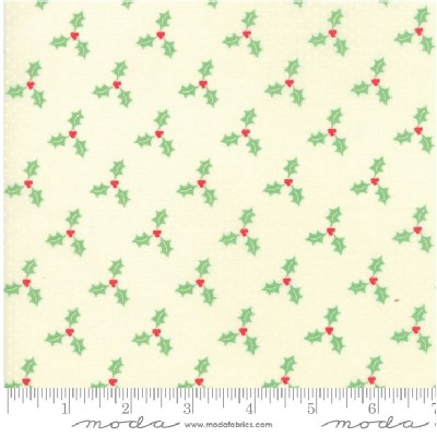 Moda Fabrics - Swell Christmas - Holly in Cream