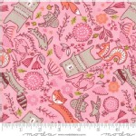 Moda Fabrics - Walk In The Woods - Animals in Pink