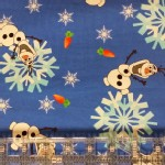 One Red Blossom - Knits - Snow Sisters - Happy Snowman in Blue