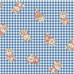 Quilt Gate - Dear Little World - Pocket Kitten Gingham in Blue