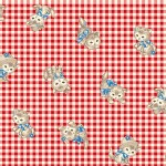 Quilt Gate - Dear Little World - Pocket Kitten Gingham in Red