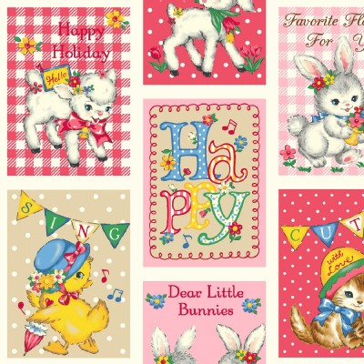 Quilt Gate - Dear Little World - Bambino Cards in Pink